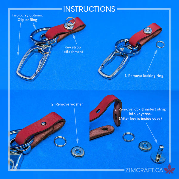 gt350 key case strap install instructions