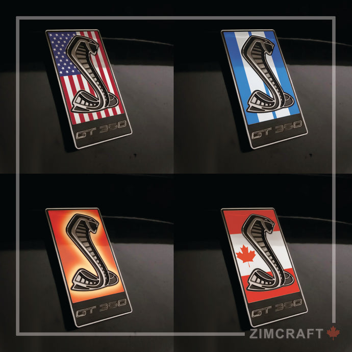 GT350 Emblem Overlays : Flags & Designs