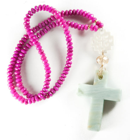 Amazonite Cross