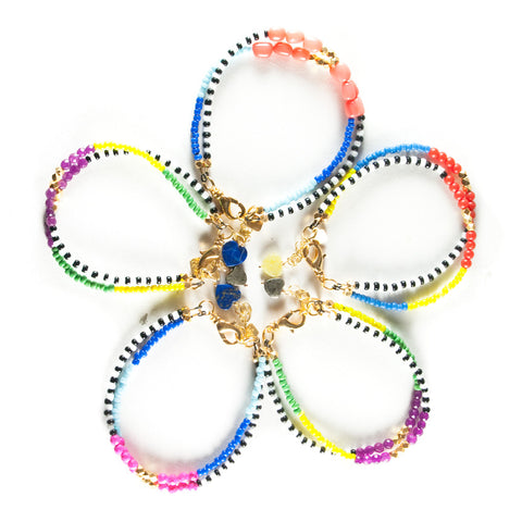 Limited Edition: Color Blocked Brights Bracelet