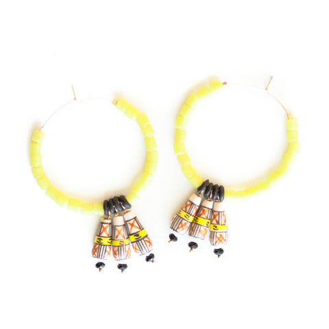 Sunshine of your Love Hoop Earrings