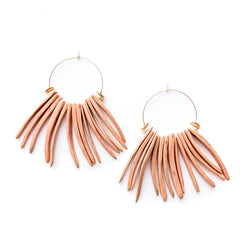 On the Fringe Hoop Earrings