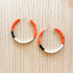 Coral Color Blocked Hoops