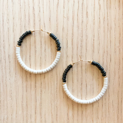 Black and White Color Blocked Hoops