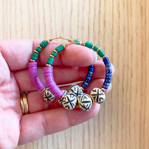 Tribal Mix Hoops