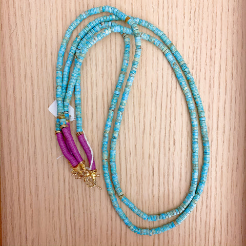 Layers: Aqua Terra Jasper Long Statement Necklaces