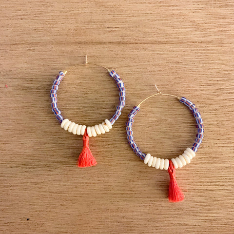 Candy Cobalt Hoop Earrings