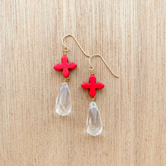 Assurance Earrings - Red