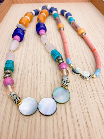 Island Colors Long Statement Necklace