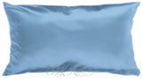 Mid Blue Silk Pillow Case