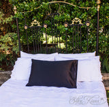 Mulberry Silk Black Pillowcase