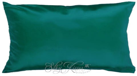 Dark Green Terse Silk Pillowcase