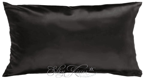 Black Silk Pillowcase