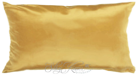 Gold Charmeuse Silk Pillowcase