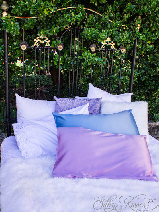 Silk Pillowcase Luxurious Lavender