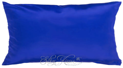 Royal Blue Mulberry Silk Pillow Case