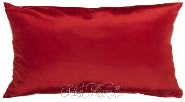 Dark Red Silk Pillowcase - Luxury Bedding