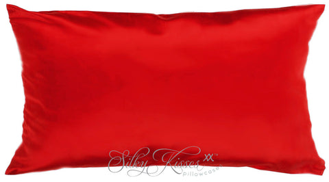 Red Mulberry Silk Pillow Case