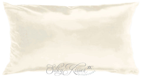 Cream Pure Silk Pillowcase
