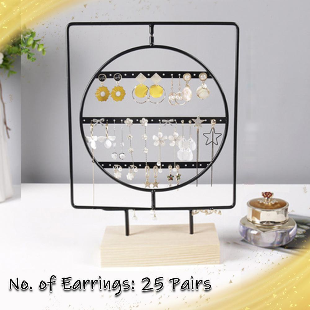 Wooden Earring Display Stand