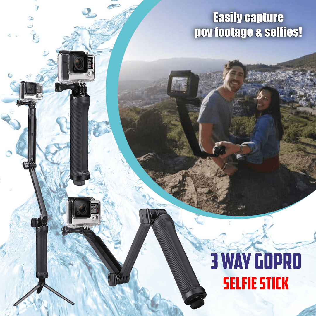 3 Way Sport Camera Selfie Stick Tripod