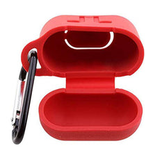 Load image into Gallery viewer, Apple AirPod Silicone-Shockproof Case Cover with Carabiner Hook (Red)