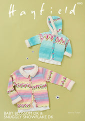 Hayfield Baby Blossom D/K Hooded Jacket Knitting Pattern 4845