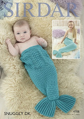 Sirdar Snuggly D/K Mermaid Tail Pattern 4708