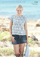 Sirdar Beachcomber D/k Pattern 7284 Ladies and Girls size 24 - 46""