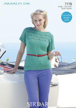Sirdar Ladies Amalfi D/K Pattern 7778