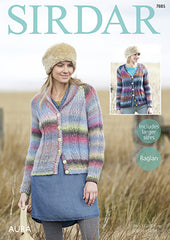 Sirdar Aura Ladies Cardigan Pattern 7885