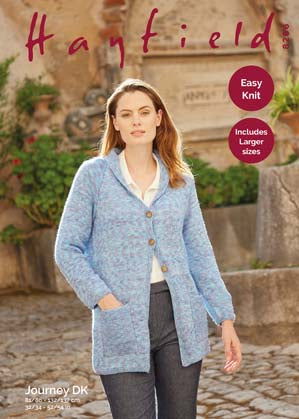 "Hayfield Journey D/K Ladies Jacket Knitting Pattern Sizes 32-54"" 8266"