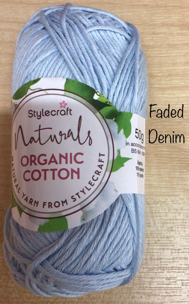 Stylecraft NEW Natural Organic Cotton Double Knit Yarn