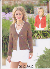 Ladies 24/26 - 44/46 Cotton Double Knit Pattern 7085