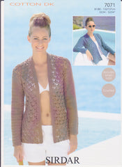 Ladies Cotton Double Knit (Crochet) Pattern 7071