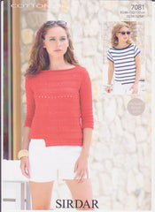 Ladies Cotton Double Knit Pattern 7081
