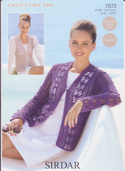 Ladies Cotton Double Knit (Crochet) Pattern 7072