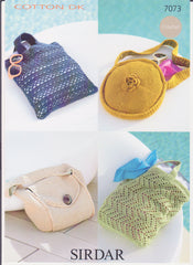 Crochet Bags in Cotton Double Knit Pattern 7073