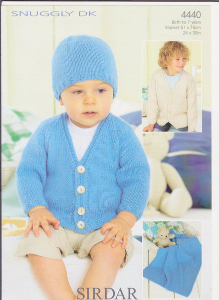 Birth to 7 Years Snuggly Double Knit Pattern 4440