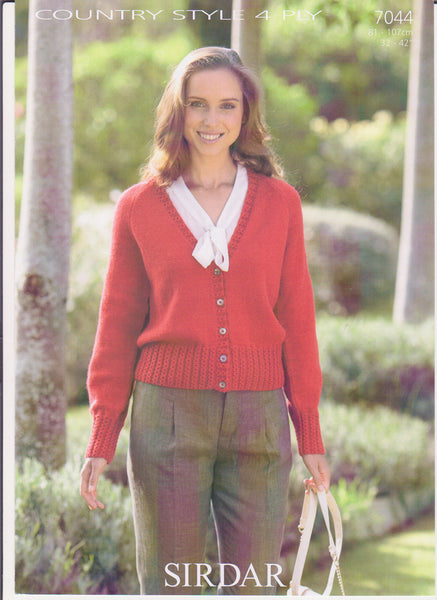 Ladies Country Style 4 Ply Pattern 7044