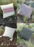 Hayfield Chunky Tweed Knitted Cushion Pattern 7496