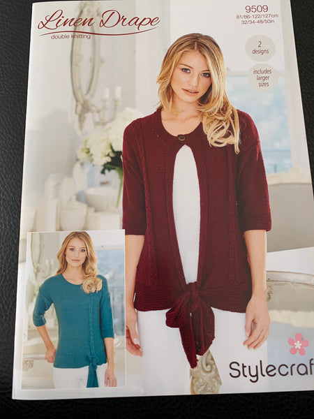 Stylecraft Linen Drape D/K Ladies Knitting Pattern 9509