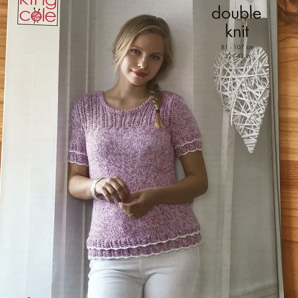 King Cole Calypso Double Knit Top Pattern 5043