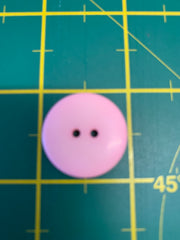 10 x 25cm Pale Pink Flat 2 Hole Buttons