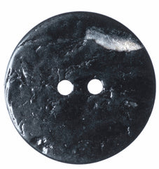 2 x 22.5mm Black Two Hole Hemline Buttons