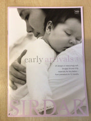 Sirdar Early Arrivals 3 Premature Babies Knitting Pattern Book 348