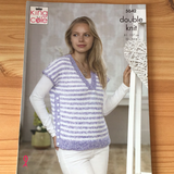 King Cole Calypso Double Knit V neck Top & Cardigan Pattern 5042