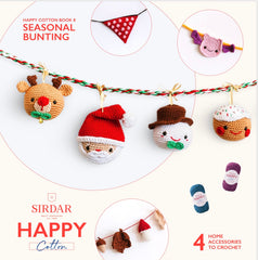 Happy Cotton Seasonal Bunting Crochet Pattern Book