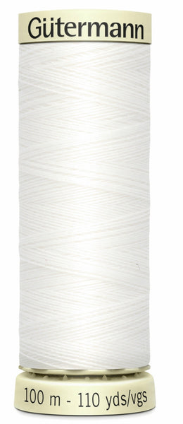 100m Gutermann Sew All Thread White
