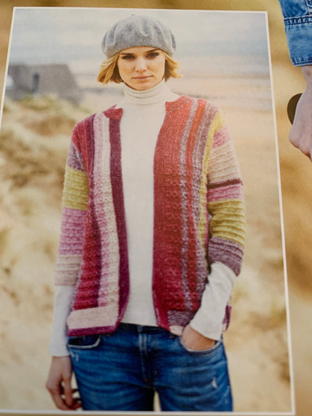 Stylecraft Batik Swirl Double Knit Cable Sweater & Jacket Knitting Pattern 9537